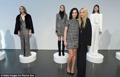 Live presentation: The models posed as mannequins while putting the Rachel Zoe collection ...