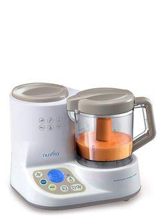 Nuvita 1966 Mini Robot de Cocina para Bebé Pappasana Vapor Combo 2 - Procesador de Alimentos 6-en-1 Pica, Licua, Descongela - Calentador de Biberón - Esterilizador - Pantalla Digital - Diseño Italiano: Amazon.es: Hogar Baby Cooking, Rice Cooker, Minion, Kettle, Kitchen Appliances, Product Design, Cheesecake, Products, Baby Layette