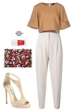 Street style by dalma-m on Polyvore featuring polyvore fashion style The Fifth Label MaxMara Jimmy Choo Oscar de la Renta The Hand & Foot Spa clothing