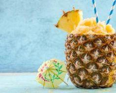 Recette de Granité à l'ananas Cocktail Drinks, Cocktails, Granite, Sorbets, Smoothies, Detox, Pineapple, Fruit, Desserts