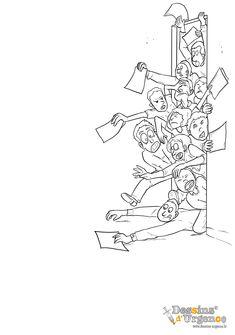 Y'a du monde aux admissions aujourd'hui !!     Voila un formidable coloriage pour vos enfants afin de leur faire comprendre le monde du secrétariat médical.     De rien… Afin, Tattoos, Coloring Pages, World, Children, Drawing Drawing, Tatuajes, Tattoo, Tattos