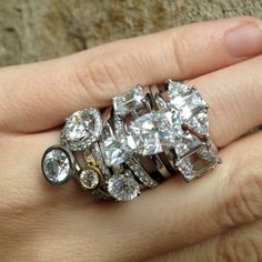 Eliza page diamond stack- I could break up my diamonds and do a small stack?