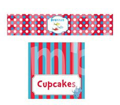 Dr Seuss Themed Labels and Tent Cards