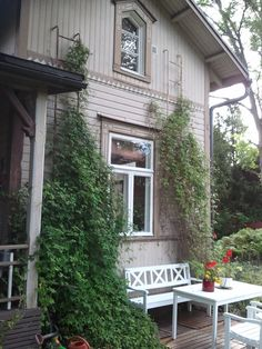 Old house in Loviisa, Finland Distressed Wood Floors, Window Trims, French Style Decor, Scandinavian Cottage, Outdoor Balcony, House Siding, Wooden House, Traditional House, Country Life