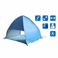 Pas cher 1 set Complet Automatique Tente bleu plage tente festival abri pour…
