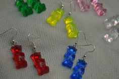 Gummy bear cute fake food earrings on Etsy, $7.63