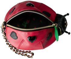 Betsey Johnson Kitch Lady Bug Wristlet, Red, One Size: Handbags: Amazon.com