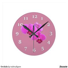 Orchids Round Wall Clock