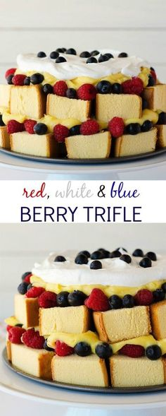 Red, White, And Blue Berry Trifle Recipe — Dishmaps
