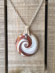 Driftwood Inspired Wave Pendant 1 1/4  Polymer by ShackOnTheBeach