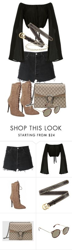 """Untitled #21078"" by florencia95 ❤ liked on Polyvore featuring RE/DONE, Gucci, CÉLINE and ASOS"