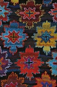 Kaffe Fassett knitted design.