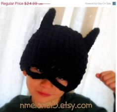 ON SALE Batman   handmade crochet Hat 0 to 10 years by NattyHatty, $22.99