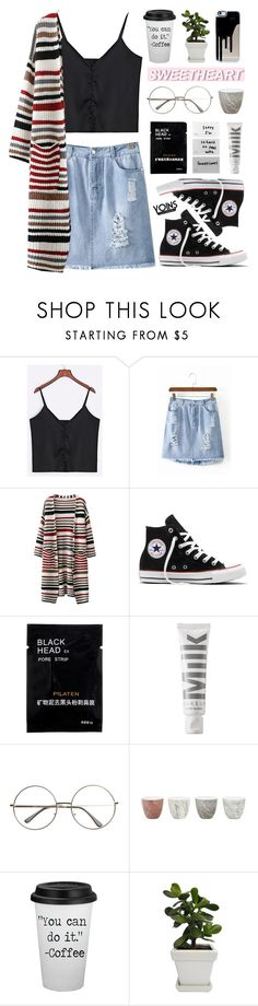 """#634 Yoins 6"" by mia5056 ❤ liked on Polyvore featuring Converse, MILK MAKEUP, Jayson Home, yoins, yoinscollection and loveyoins"