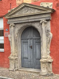 This beautiful Baroque portal is from 1568. #Stralsund