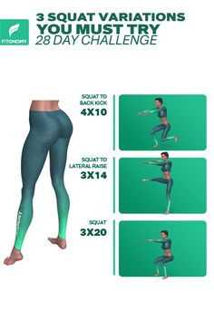 3 SQUAT VARIATIONS YOU MUST TRY : Squats are one of the most foundational movements you can do to build total body and lower body strength and muscle mass. Give it a try to these 3 squat variations and get the massive result. Sixpack Workout, Butt Workout, Gym Workouts, At Home Workouts, Fitness Herausforderungen, Fitness Workout For Women, Fitness Motivation, Programe Sport, Fit Girls Bodies
