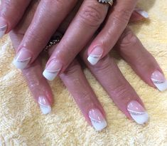 Wedding nails ❤️ - Katie S. Spring Nail Art, Spring Nails, French Nails, Ears That Stick Out, Bridal Shower Activities, Dull Hair, Shellac Nails, Fabulous Nails, Tips Belleza