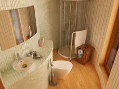 rotunda bathroom 600x450   Tiny Yurt Cabin: Little House in the Round