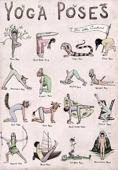 What's your favorite yoga pose in this adorable illustration? - What's your favorite yoga pose in this adorable illustration? What's your favorite yoga pose in this adorable illustration? Yoga Fitness, Health Fitness, Fitness Men, Pilates Workout, Pilates Yoga, Kids Workout, Beginner Yoga Workout, Cardio, Yoga Meditation