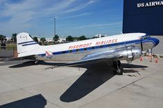 Piedmont Airlines.  Nice to look out the windows and see the engines were made by Rolls Royce.