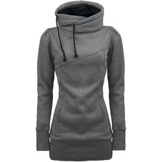 Draw String Pockets Beam Waist Korean Style Cotton Solid Color Hoodie For Women (GRAY,M) | Sammydress.com