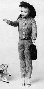 Girl's Slacks and Cardigan | No. 787 | Doll Clothes Pattern | Knitting Patterns