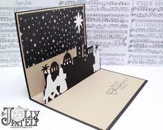 Night in Bethlehem, Bethlehem Edgelits, Merry Music Specialty DSP, Merry Little Christmas DSP, Dazzling Diamonds Glimmer Paper - Pop-Up Card (interior)