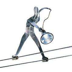 Tech Lighting 700KLMM Functional Art Metal Man Kable Lite Element Cable Head