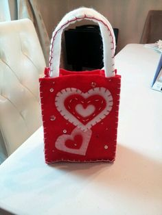 Valentine felt treat bags