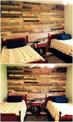 The stacks of raw wood pallets artistically joined together provide very functional and practical pallet wall. Its appearance gives an aesthetic pleasure and stylish look to the viewer. #wall #wallart #palletwall #pallets #woodpallet #palletfurniture #palletproject #palletideas #recycle #recycledpallet #reclaimed #repurposed #reused #restore #upcycle #diy #palletart #pallet #recycling #upcycling #refurnish #recycled #woodwork #woodworking