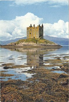 ✮ Castle Stalker, Scotland, built 1320- just imagine about the persons, who lived there.....