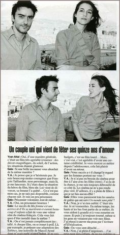 Charlotte Gainsbourg with then boyfriend Yvan Attal as seen in Gala November 2005 | charlottegainsbour.free.fr