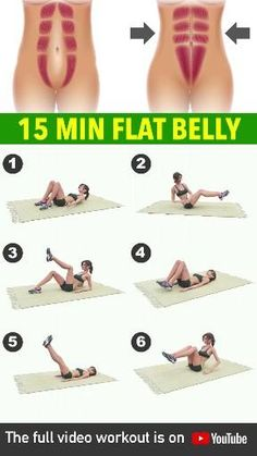 15 Min Workout For Flat Belly Home Body Weight Workout, Full Body Gym Workout, Gym Workout Videos, Flat Belly Workout, Gym Workout For Beginners, Fitness Workouts, Easy Workouts, Flat Belly Exercises, Squat Workout