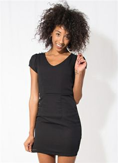 Black Dress with Lace Back #Black #BlackDress #LBD #Buttons #Lace #LaceBack #MiniDress #Holidays #NewYearsEve #Party #PartyDress #LosAngeles #Downtown #Event #Wholesale #Style #Fashion #StylishWholesale