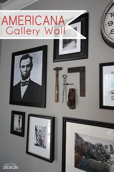 Create a themed gallery wall with style and in this case, a Patriotic flair.  Blogger provides simple tips and layout guide.