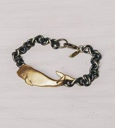 Brass Whale Bracelet