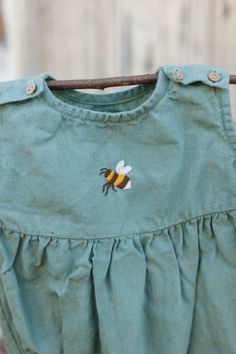 4de4ea5ddeb4 Linen Romper, Hand Embroidery, Mint Green Baby Romper, Linen Kids Clothing, Linen  Baby Romper, Toddler Romper, Baby Clothes, Kids Clothes
