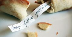 Homemade Fortune Cookies are so much more fun when you can add your own personalized fortunes! Ingredients: 1 egg white 1/8 teaspoon vanil...