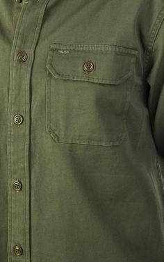 Filson Drill Chino Shirt Olive