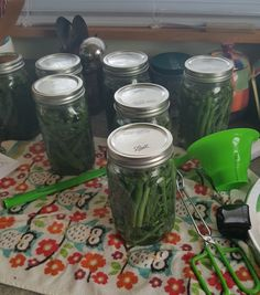 Canning green peppers
