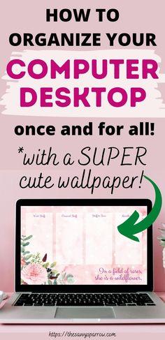 Computer Basics, Computer Help, Computer Tips, Desktop Organization, Paper Organization, Office Organization, Computer Wallpaper, Chromebook, Organising