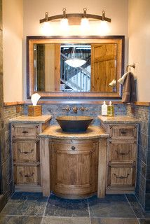 Wolf Mountain - rustic - bathroom - salt lake city - by Interior Concepts Design House