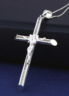 Sterling Silver Cross Necklace Protection Charm by Alyssasdreams