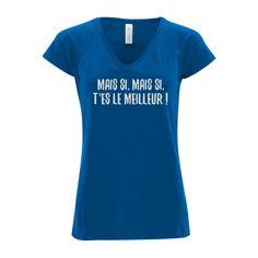 T-shirt Femme col v profond B C Bleu Royal - T-shirt