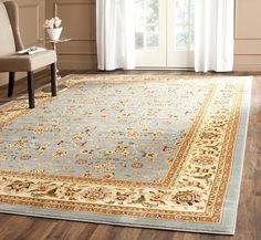 Safavieh Lyndhurst Oriental Floral Motif Greyish BlueIvory Living or Dining Room Area Rug 9 x 12 -- Find out more about the great product at the image link.Note:It is affiliate link to Amazon.