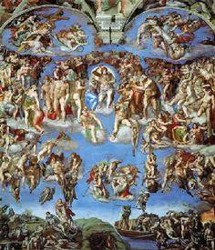 Michelangelo : Sixtijnse kapel (uitsnede) Michelangelo