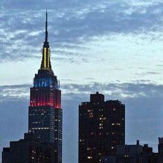Empire State Building - Venezuelan Flag #VenezuelaSOS