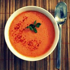 Step by step recipe for a healthy summer soup - especially good for dieters.