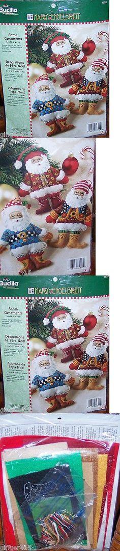 Other Hand Embroidery Kits 28142: Bucilla Santa Ornaments Mary Engelbreit Felt Christmas Kit (6) Very Rare 85310 -> BUY IT NOW ONLY: $99.99 on eBay!