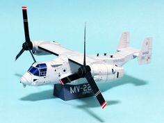Download Transport aircraft – MV-22 Osprey Papercraft model